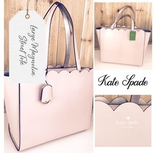 Kate Spade Large Magnolia Street blush tote bag